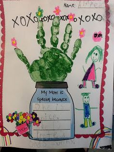 Cute and easy Mother's Day craft and writing centers!