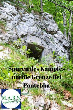 Bei einem Ausflug in den  Bombaschgraben nahe Pontebba im italienischen Kanaltal fanden wir Spuren aus dem Ersten Weltkrieg – eine Zeit, in der mitten durch Pontebba die Front zwischen Österreich und Italien verlief. Group, Board, Nature, Blog, Trench, World War I, Italy, Blogging, Sign