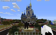 Disney World Recreated In Minecraft