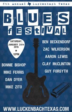 Tickets Go On Sale Tomorrow for the Blues Festival @ Luckenbach Texas - January 24th 2015 12:00 pm