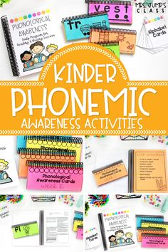 With this complete phonological awareness program, students can practice skills like rhyming, onset and rime, and segmenting and blending syllables. It also includes some great kindergarten phonemic awareness activities like segmenting and blending sounds in words!
