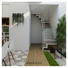 Super Home Garden Design Layout House Plans Ideas Home Garden Design, Home Room Design, Patio Design, House Design, Patio Interior, Apartment Interior Design, Interior Ideas, Small Room Layouts, Tiny House Stairs