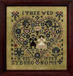 I Thee Wed - Cross Stitch Pattern