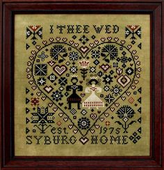 I Thee Wed - Cross Stitch Pattern