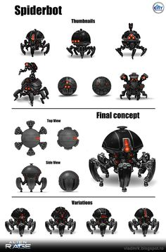 Spiderbot by VladMRK.deviantart.com on @DeviantArt