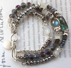 ON SALE bracelet labradorite bracelet rainbow by soulfuledges