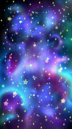 Stars and galaxy wallpaper Unicornios Wallpaper, Glitter Wallpaper, Cellphone Wallpaper, Aesthetic Iphone Wallpaper, Aesthetic Wallpapers, Pretty Backgrounds, Pretty Wallpapers, Iphone Wallpapers, Phone Backgrounds