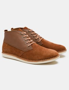 Pointer Cyril II Suede/Leather Boots - Copper Brown