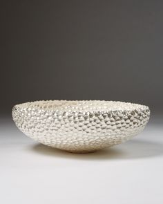 Unique hand raised vessel 999 S, fine silver. Bowl by Carsten From Andersen, Denmark. 2015.