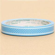 pretty blue Deco Tape with white dots 1