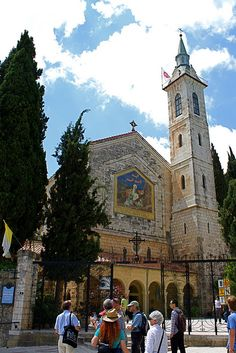 The Church of the Visitation in Ein Kerem, near Jerusalem, is built over the site where Mary met Elizabeth, near the spring of the village