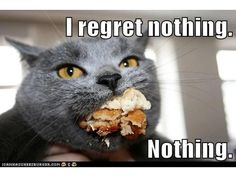How I feel when I eat carrot cake after saving my points for a day or two...
