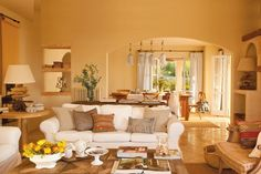 Country style Spanish interior - home interior with luxury terrace and elegant French windows - Modern Interior and Decor Ideas Spanish Style Bathrooms, Spanish Style Decor, Spanish Style Homes, Spanish Interior, Modern Interior, Home Design Websites, Decorating Websites, Style At Home, Teal Living Rooms