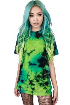 TEAL AND GREEN - TIE-DYE BLANK – Teen Hearts Clothing - STAY WEIRD
