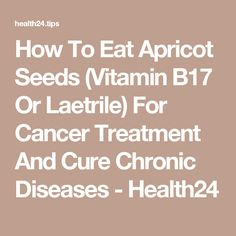 How To Eat Apricot Seeds (Vitamin B17 Or Laetrile) For Cancer Treatment And Cure Chronic Diseases - Health24