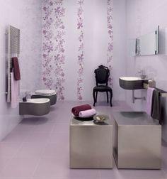 Glazed white bodied porous single-fired tiles lilla chiaro - Lea Ceramiche. Коллекция Pleasures - Удовольствие.