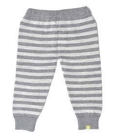 Take a look at this Charcoal & Silver Organic Wool-Silk Blend Leggings - Infant on zulily today!