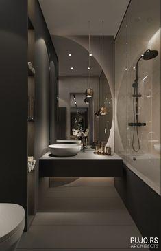 Modern Luxury Bathroom, Bathroom Design Luxury, Modern Bathroom Design, Modern House Design, Small Luxury Bathrooms, Small Elegant Bathroom, Small Bathroom, Bathroom Ideas, Bathroom Remodeling