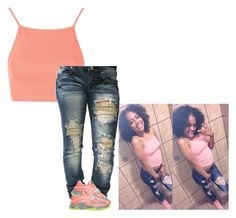"""""""outfit look alike sorta"""" by siniababy ❤ liked on Polyvore featuring Topshop, Machine and NIKE"""