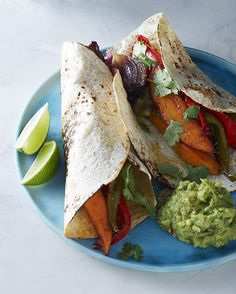 Vegetarian Fajitas from Make It Easy cookbook by Stacie Billis | One Hungry Mama