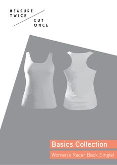 Women's Racer Back Singlet featuring twin needle neck, armholes and hems. Is an invaluable piece in a basics wardrobe. It can be dressed up or down depending on the fabric you use, it can show off ...