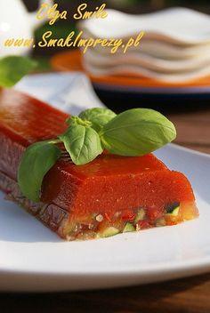 Galareta pomidorowo warzywana - przepis | Kulinarne przepisy Olgi Smile