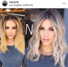 Ideas to go blonde – long icy balayage blonde hairstyle transformations Celebrity hairstyle, ideas for a haircut, long blonde hair ideas, short blonde hair ideas, curly hair Celebrity Short Hair Shaggy Bob Haircut New Cute Long and Sh Blonde Hair Transformations, Platinum Blonde Balayage, Short Balayage, Ash Blonde Hair With Highlights, Short Thin Hair, Short Platinum Hair, Gorgeous Hair, Beautiful, Hairstyle Ideas
