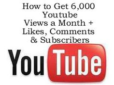 How to get Youtube views, Likes etc http://fiverr.com/chivvy/show-you-how-to-get-6000-views-a-month-to-your-youtube-video-plus-subscribers-likes-and-comments--2