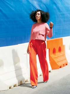 We're obsessed with Solange here at Fresh Tangerine || This is the ultimate colorblock look