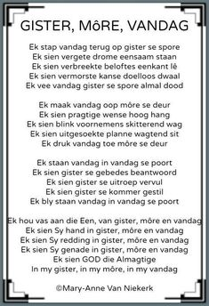 Ek sien God die Almagtige in my gister, in my môre en vandag. Prayer Verses, Prayer Quotes, Bible Verses Quotes, Scriptures, South African Poems, Jesus Christ Quotes, Afrikaanse Quotes, Inspirational Quotes About Success, Good Morning Messages