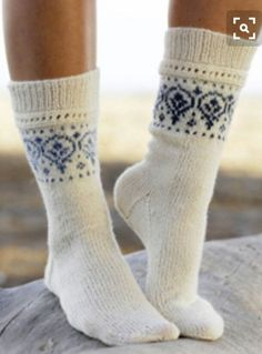 Socks Knit Inspiration Picture Only