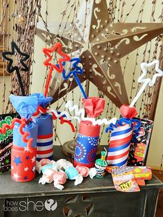 Simple & Cute, Treat-Filled Firecrackers that Pack a Real Bang! Perfect for the 4th of July!