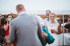 That look when a Bride is watching her Groom dance with his grandmother and she absolutely ADORES him!  Rustic Barn wedding in Eatonville, WA