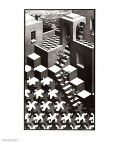 Cycle by M. C. Escher. Art print from Art.com.