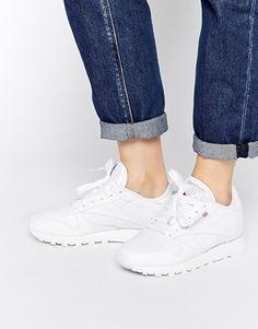 Reebok – Klassische Lederturnschuhe in Weiß