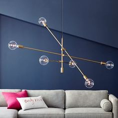 Mobile Chandelier - Grand #westelm This would be perfect in your dining room because it is 55 inches wide. Perfect over long table. On sale 15% off CHECK IT OUT