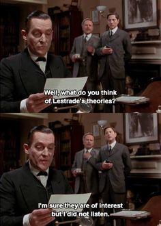 Sherlock wasn't listening