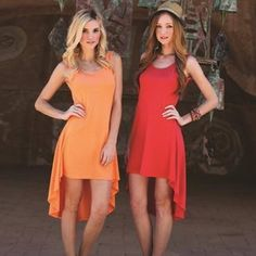 NEW ARRIVAL Orange High Low Dress Flowy orange high low dress. Super chic and easy to wear. Light and fresh. Size medium. Angie Dresses High Low