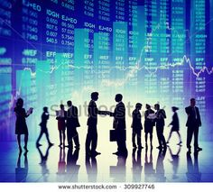 Business People Deal Collaboration Stock Exchange Concept