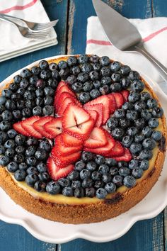 4th of July Ricotta cheesecake... looks delicious!
