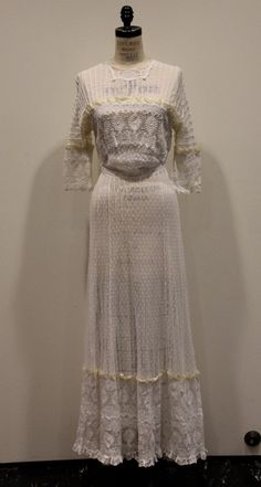 Vintage 1911 Edwardian Wedding Dress by MakeYouSmileNYC on Etsy, And Who's ED?
