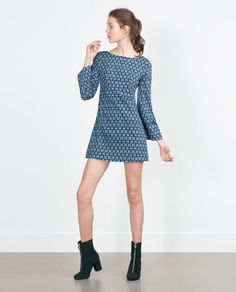 Image 1 of RETRO PRINT DRESS from Zara
