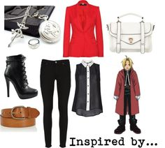 """Edward Elric"" by musicalgeek on Polyvore"