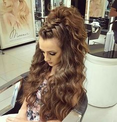 Prom Hairstyles For Short Hair, Up Hairstyles, Pretty Hairstyles, Braided Hairstyles, Wedding Hairstyles, Top Knot, Pinterest Hair, Hair Today, Hair Dos