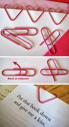 DIY Heart Shaped Paper Clips Click the picture to see more