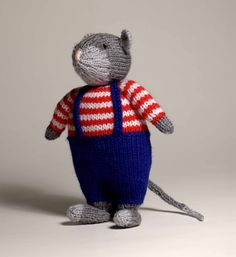 """Marvin the Mouse from """"Knitted Toys"""" by Jody Long"""