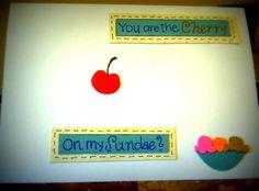 Cherry on my Sundae Card by LifesAcanvas on Etsy, $3.00