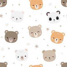 Teddy Bear Doodle, Teddy Bear Cartoon, Cute Teddy Bears, Bear Wallpaper, Kawaii Wallpaper, Cartoon Wallpaper, Cute Wallpaper Backgrounds, Wallpaper Iphone Cute, Cute Wallpapers