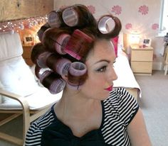 how to use velcro hair rollers. The longer you leave them in, the better your results are! After you blow dry your hair put the rollers in... Leave in until you are done w/makeup & dressed! Watched the whole video, and it was great - easy to understand and do yourself! @Gayle Robertson Robertson Robertson