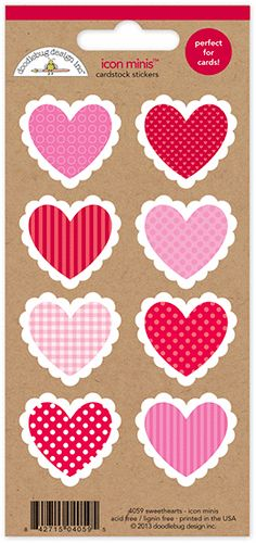 Doodlebug Design - Sweetheart Collection - Cardstock Stickers - Mini Icons